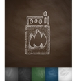 matches icon Hand drawn vector image vector image