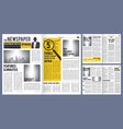 newspaper headline press layout template of vector image vector image