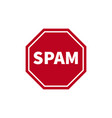 no spam no web spam no email spam spam protection vector image vector image