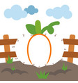 numbers game for children pumpkin vector image vector image
