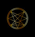 occult symbol- order nine angles symbol in gold vector image vector image