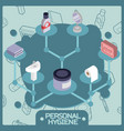 personal hygiene color isometric concept icons vector image