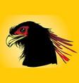 phoenix head vector image vector image