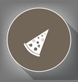 pizza simple sign white icon on brown vector image vector image