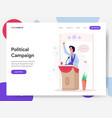 politician campaign on podium vector image