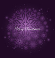 purple winter snowflake christmas background with vector image vector image