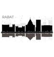 rabat morocco city skyline black and white vector image vector image