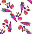 seamless pattern with sweets-4 vector image vector image