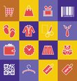 Set-of-shopping-icons vector image