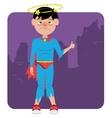 sick failed superhero vector image
