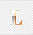 silver and gold font symbol alphabet letter l vector image