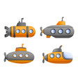 submarine icon set cartoon style vector image