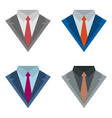 suits with ties vector image