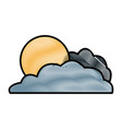 sun and cloud vector image vector image