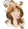 Sympathetic girl vector image