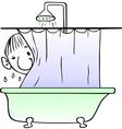Taking shower man vector image vector image