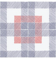 tartan seamless pattern white blue red checkered vector image