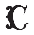 The vintage style letter C vector image vector image