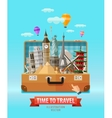 vacation logo design template travel vector image vector image