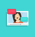 video chatting online flat vector image vector image