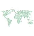 world map pattern of nem items vector image
