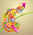 peafowl bird decor vector image