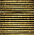Gold glow striped background with stars vector image