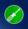 icon of screwdriver button logo symbol concept vector image
