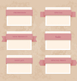 collection vintage and retro labels eps8 vector image