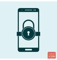 Smartphone lock icon vector image
