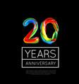 20th anniversary congratulation for company or vector image