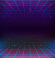 80s Retro Sci-Fi Background vector image vector image