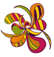 Abstract hand draw strange flower style figure vector image