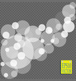 abstract white bokeh light effect explosion vector image