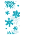 Blue Frost Snowflakes Vertical Seamless Pattern vector image