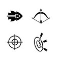 bows and arrows simple related icons vector image vector image