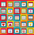 calendar icons set flat style vector image vector image