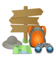 Camping Accessories Concept vector image vector image