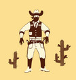 cartoon style cowboy shooter vector image