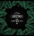 christmas design with realistic pine vector image vector image