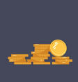coins icon stack of coins vector image