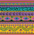 colorful tribal seamless pattern vector image