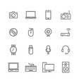 Computer and electronic icons set