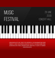 creative of piano keys art vector image