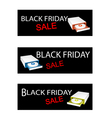 Disk Drive on Black Friday Sale Banners vector image vector image