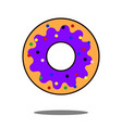 donut icon flat isolated symbol on shop topic vector image vector image
