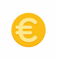 euro currency symbol on gold coin vector image vector image