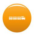 express train icon orange vector image