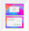 flyer template business card for managing vector image
