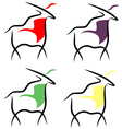 four goats vector image vector image